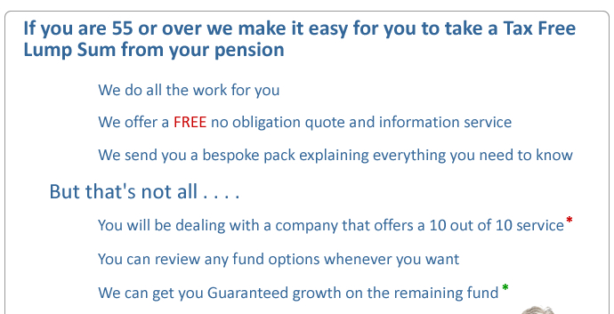 if you are 55 or over we make it easy for you to take a tax free pension lump sum