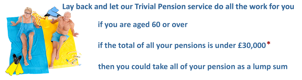 Use our Trivial Pension Service